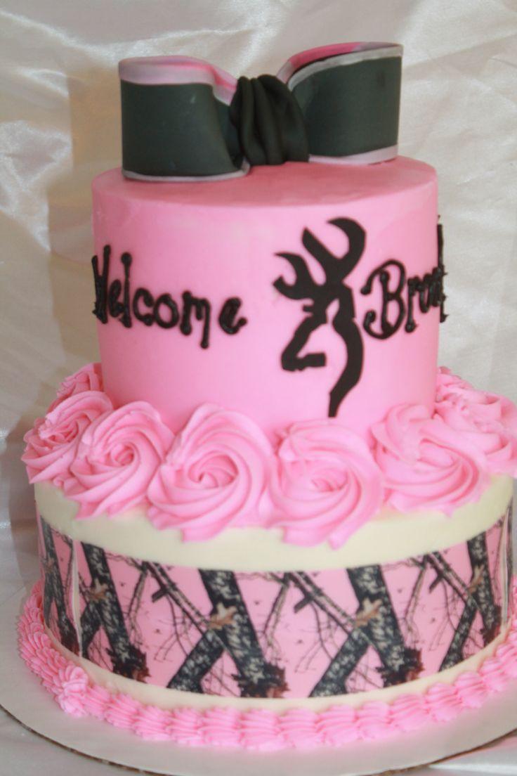 10 Big Camo Birthday Cakes For Girls Photo Pink Baby Shower