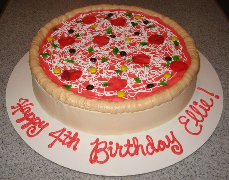 Surprising 8 Pizza Birthday Cakes For Girls Photo Pizza Party Birthday Cake Funny Birthday Cards Online Alyptdamsfinfo