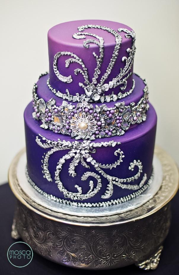 Brilliant 9 Purple Diamond Birthday Cakes Photo Purple And Silver Wedding Funny Birthday Cards Online Ioscodamsfinfo