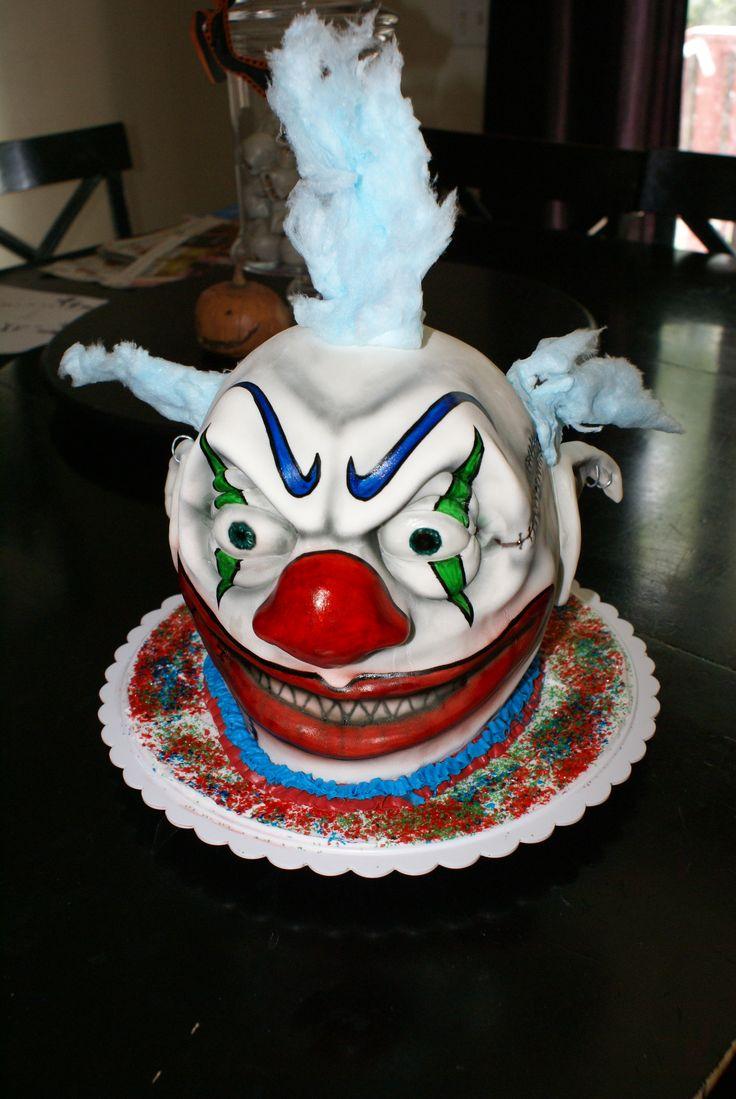 Fantastic 9 Super Scary Clowns Cakes Photo Scary Clown Cake Scary Clown Funny Birthday Cards Online Inifodamsfinfo