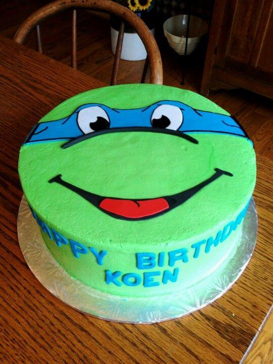 9 Blue Ninja Turtles Cakes Photo Leonardo Ninja Turtle Birthday