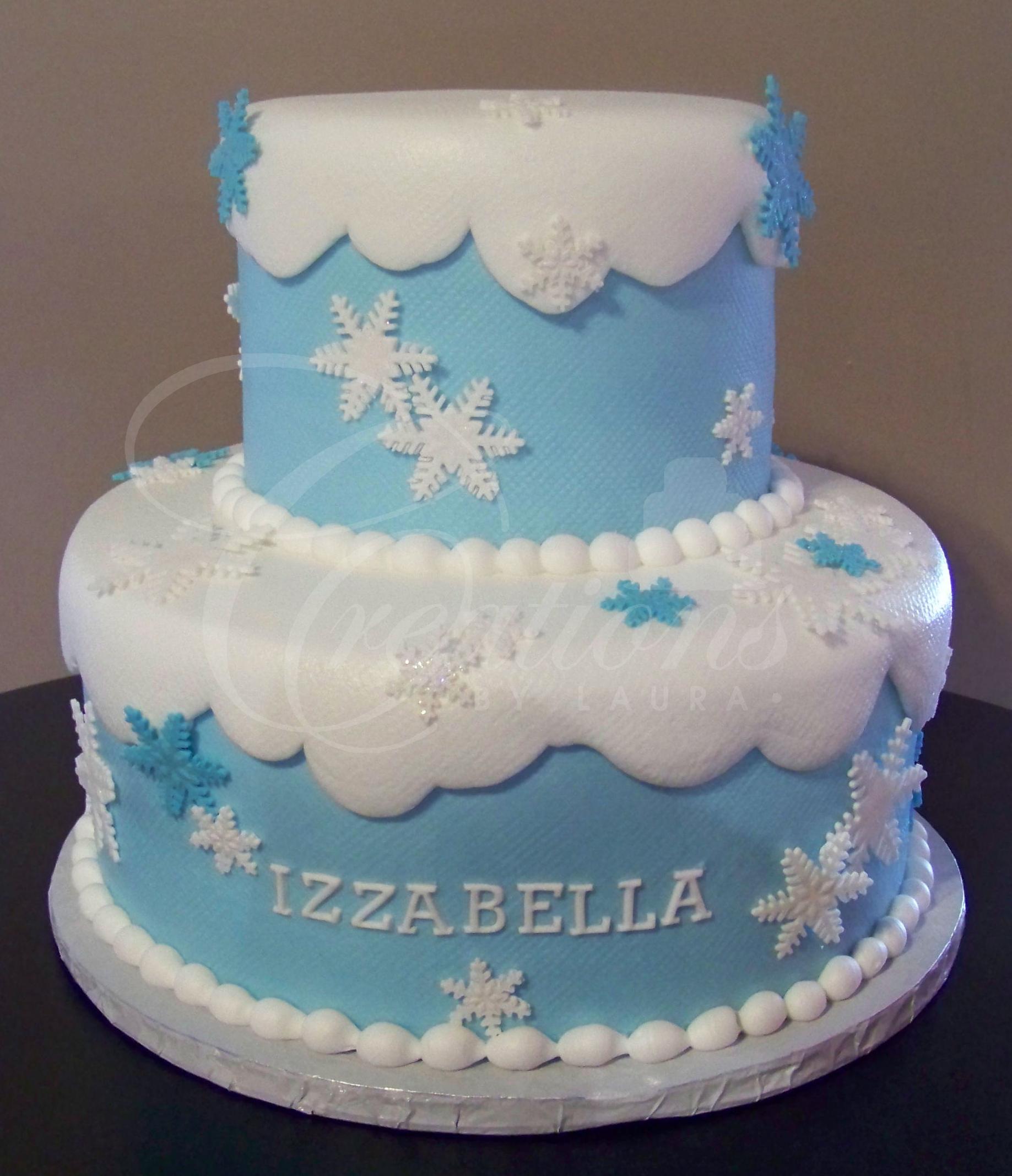 Phenomenal 9 Birthday Cakes Red Snowflakes Photo Christmas Birthday Cake Personalised Birthday Cards Beptaeletsinfo