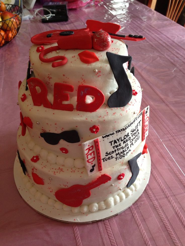 Pleasing 8 Red Taylor Swift Birthday Cakes Photo Taylor Swift Birthday Funny Birthday Cards Online Alyptdamsfinfo