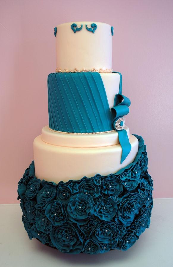11 Cupcake Wedding Cakes Purple And Blue Photo Blue And Purple