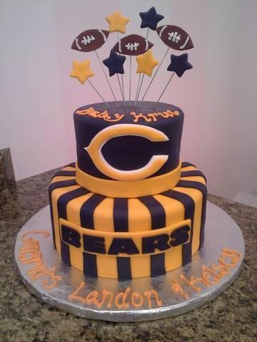 Marvelous 12 Chicago Bears Football Birthday Cakes Photo Chicago Bears Funny Birthday Cards Online Fluifree Goldxyz