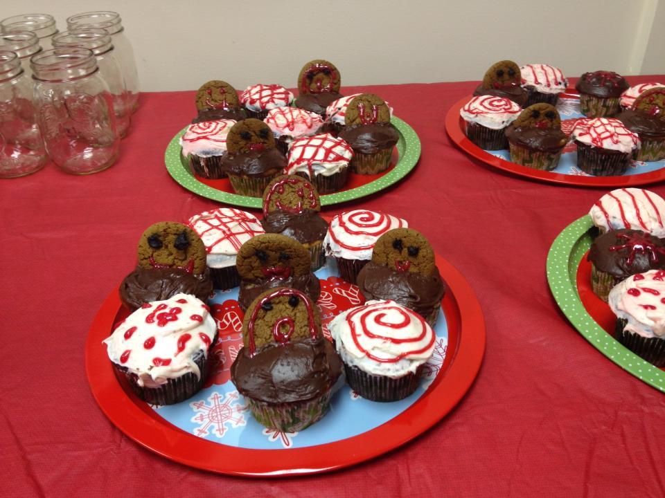 christmas themed baby shower cookies - Christmas Themed Baby Shower