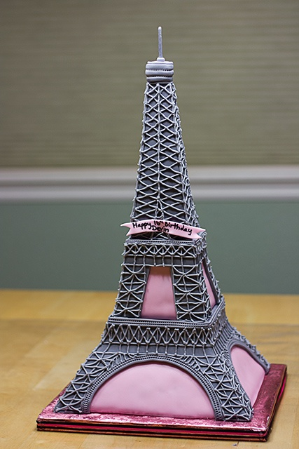 Fabulous 12 Eiffel Tower Themed Birthday Cakes Photo Paris Eiffel Tower Funny Birthday Cards Online Aeocydamsfinfo