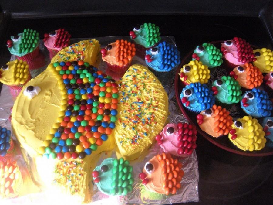 Fish Cupcake Cake Ideas