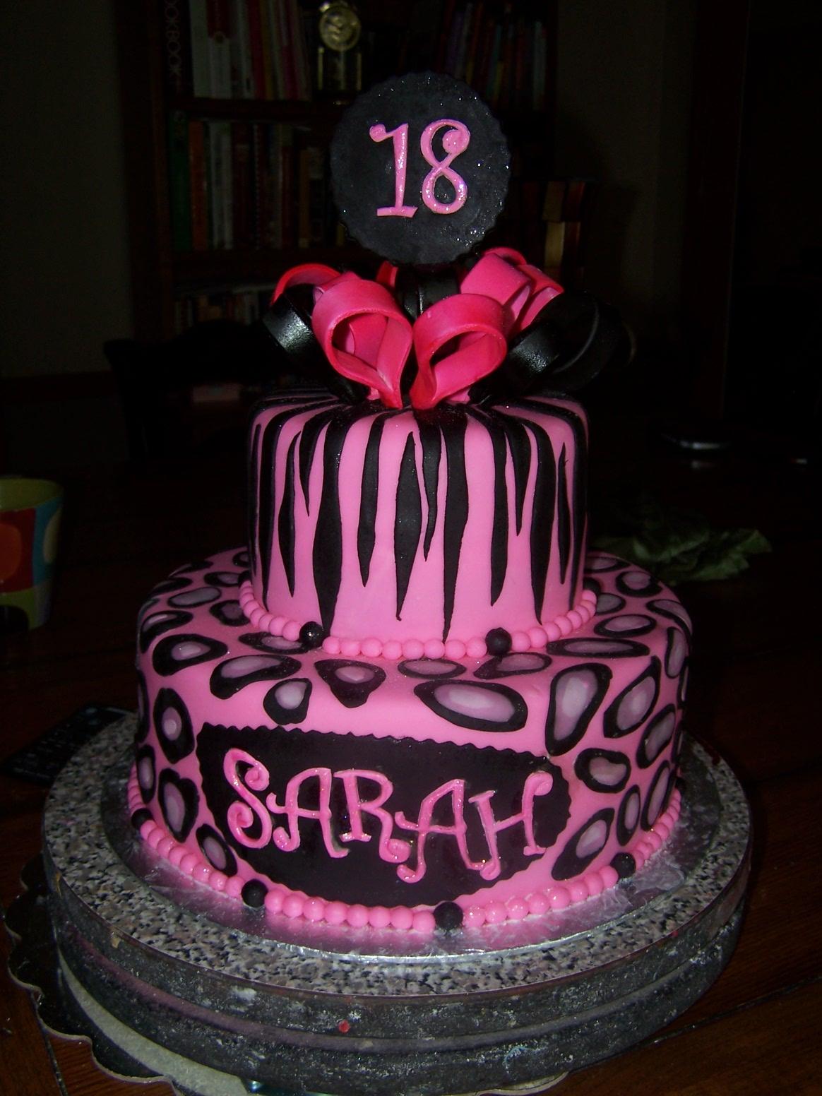 Wondrous 10 Happy 18 Birthday Cakes Photo Happy 18Th Birthday Sarah Cake Funny Birthday Cards Online Necthendildamsfinfo