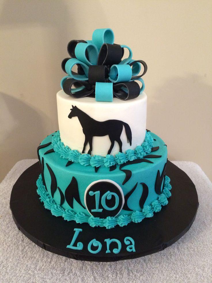 Horse Fondant Birthday Cake