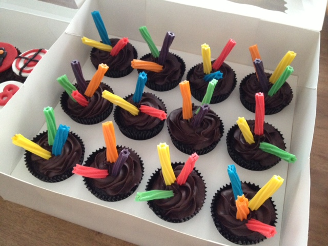 Enjoyable 11 Laser Tag Cupcakes Photo Laser Tag Birthday Cupcakes Laser Birthday Cards Printable Riciscafe Filternl