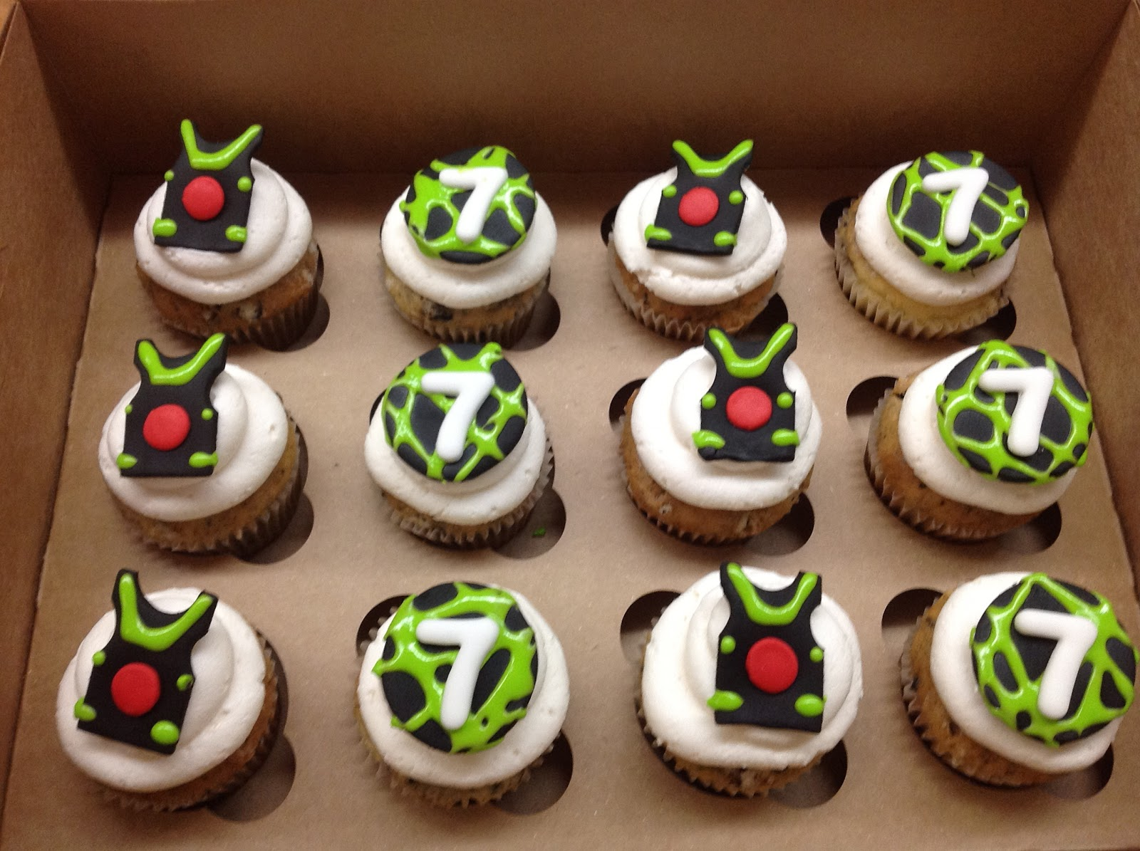 11 Laser Tag Cupcakes Photo Laser Tag Birthday Cupcakes Laser Tag