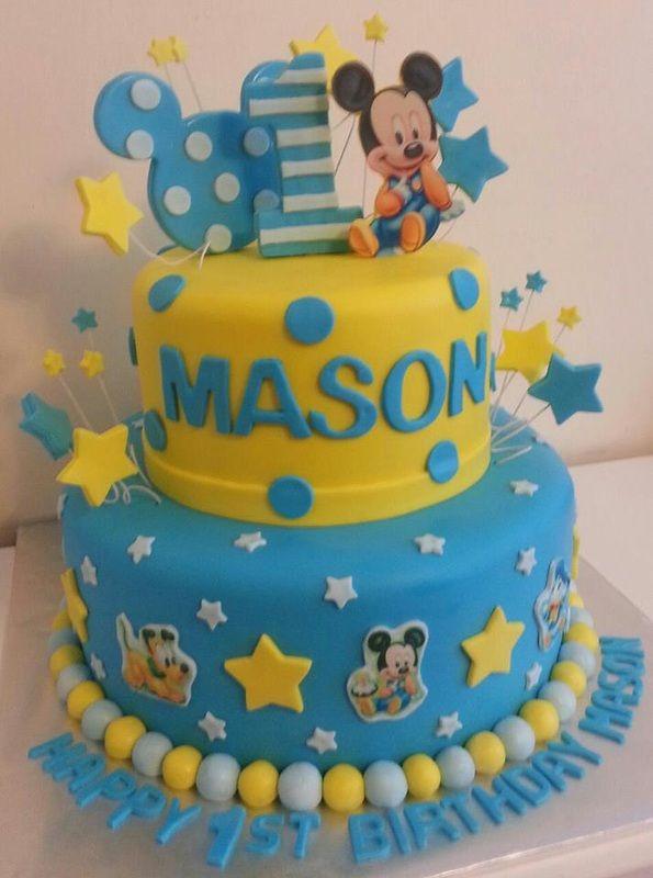 Mickey First Birthday Cake