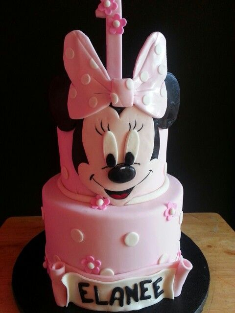 13 Minnie Mouse Cheetah 1st Birthday Cakes Photo Cheetah And