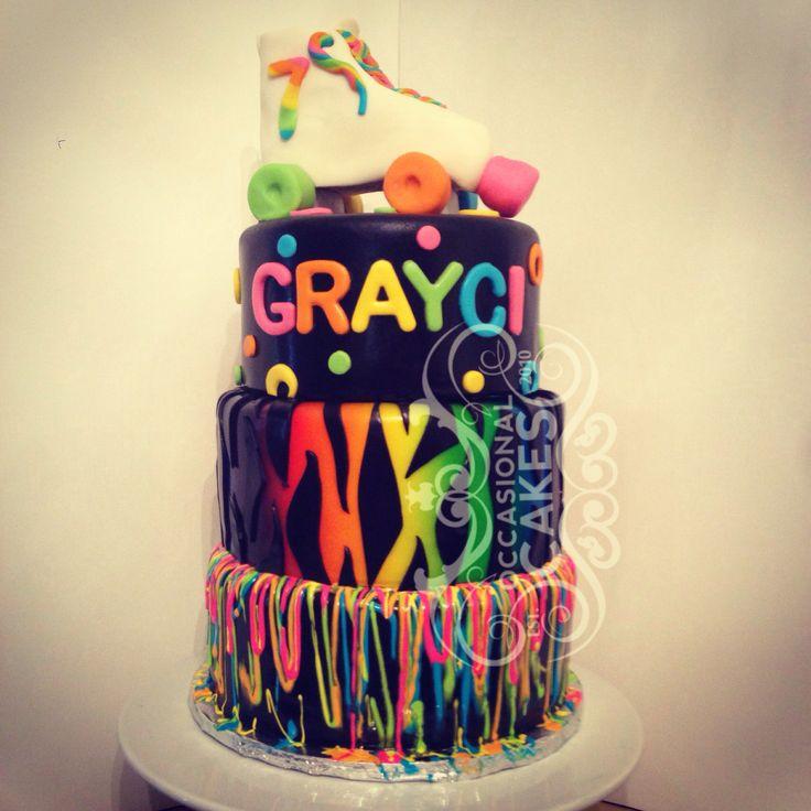 Fabulous 11 Neon Cupcake Birthday Cakes Him And Her Photo Neon Birthday Birthday Cards Printable Riciscafe Filternl