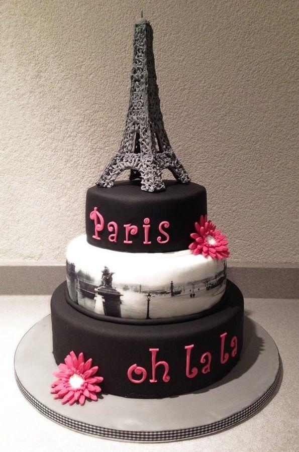 12 Eiffel Tower Themed Birthday Cakes Photo Paris Eiffel Tower