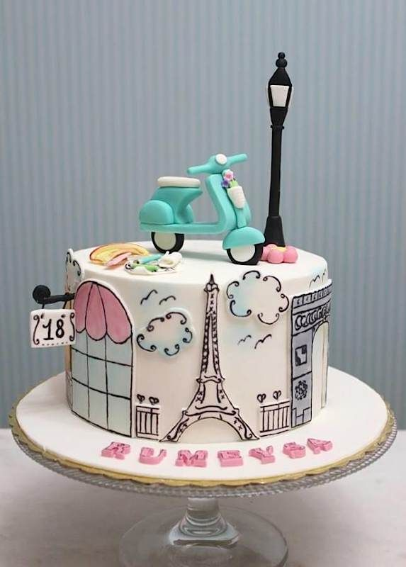 Magnificent 12 French Cakes Paris Photo Paris Birthday Cake French Flag Funny Birthday Cards Online Overcheapnameinfo