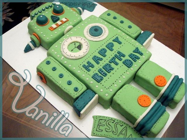 8 20 Awesome Robot Cakes Photo Robot Cake Design Easy Robot