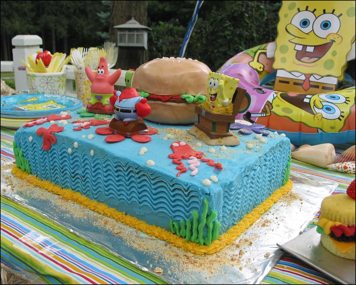 Strange 11 Sponge Bob Square Birthday Cakes Photo Spongebob Squarepants Birthday Cards Printable Inklcafe Filternl