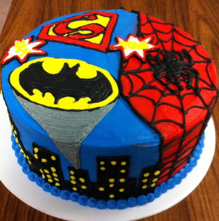 12 6 Superhero Birthday Cakes For Boys Photo Super Heroes Birthday