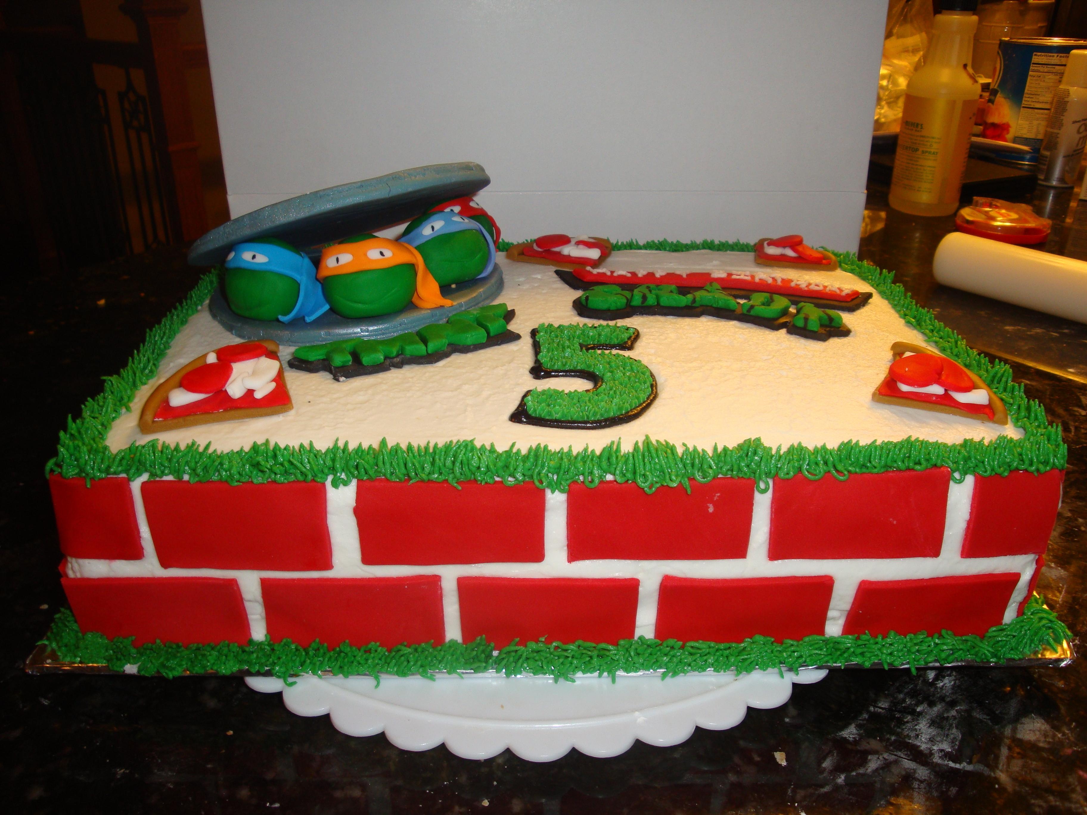 12 Easy Teenage Mutant Ninja Turtles Birthday Cakes Photo Teenage