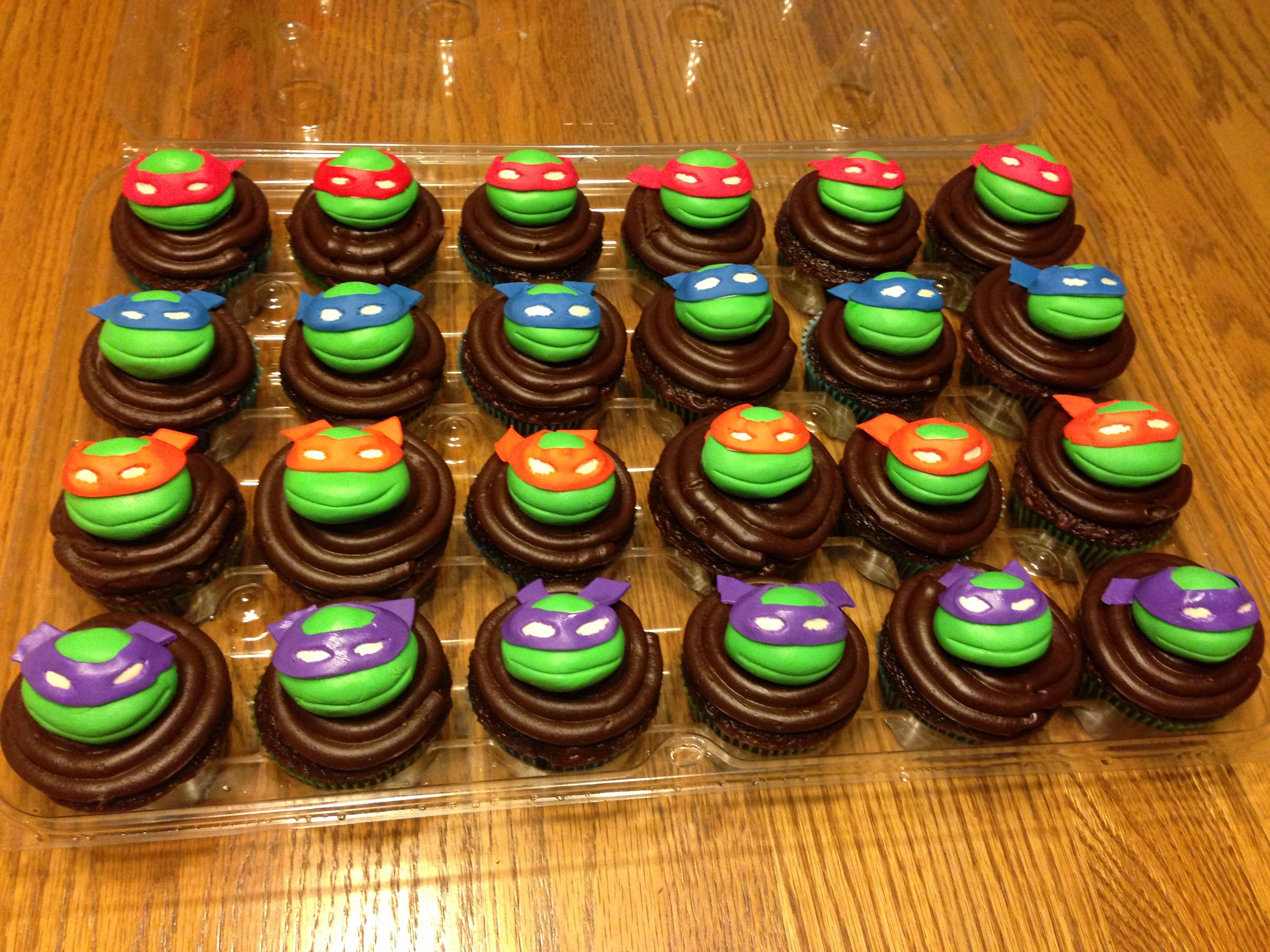 13 Birthday Teenage Mutant Ninja Cupcakes Photo Ninja Turtle