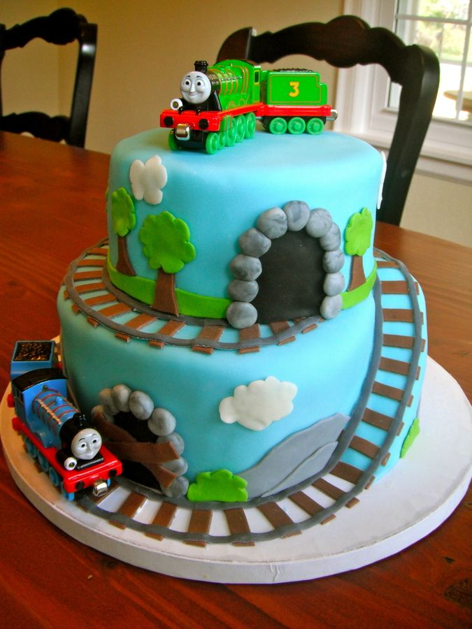 Thomas Train Birthday Cake Via 3 Year Old