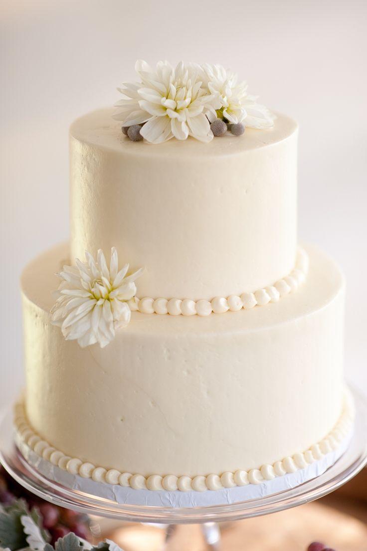 12 Simple Off White Two Tier Wedding Cakes Photo 2 Tier Wedding