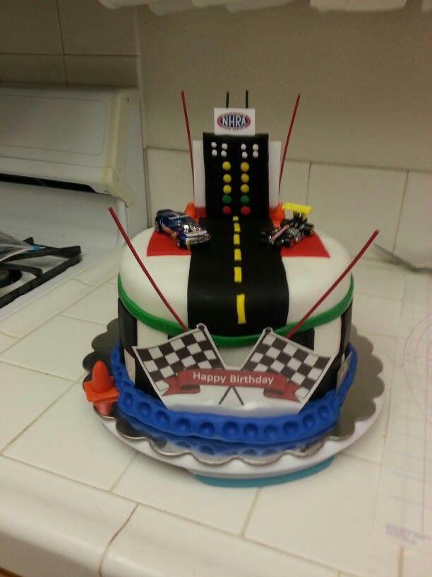 Enjoyable 13 Drag Car Birthday Cakes Photo Drag Racing Cake Ideas Drag Funny Birthday Cards Online Aboleapandamsfinfo