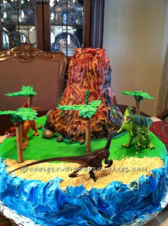 Pleasing 11 Volcano Cakes For Birthday Parties Photo Volcano Birthday Personalised Birthday Cards Veneteletsinfo