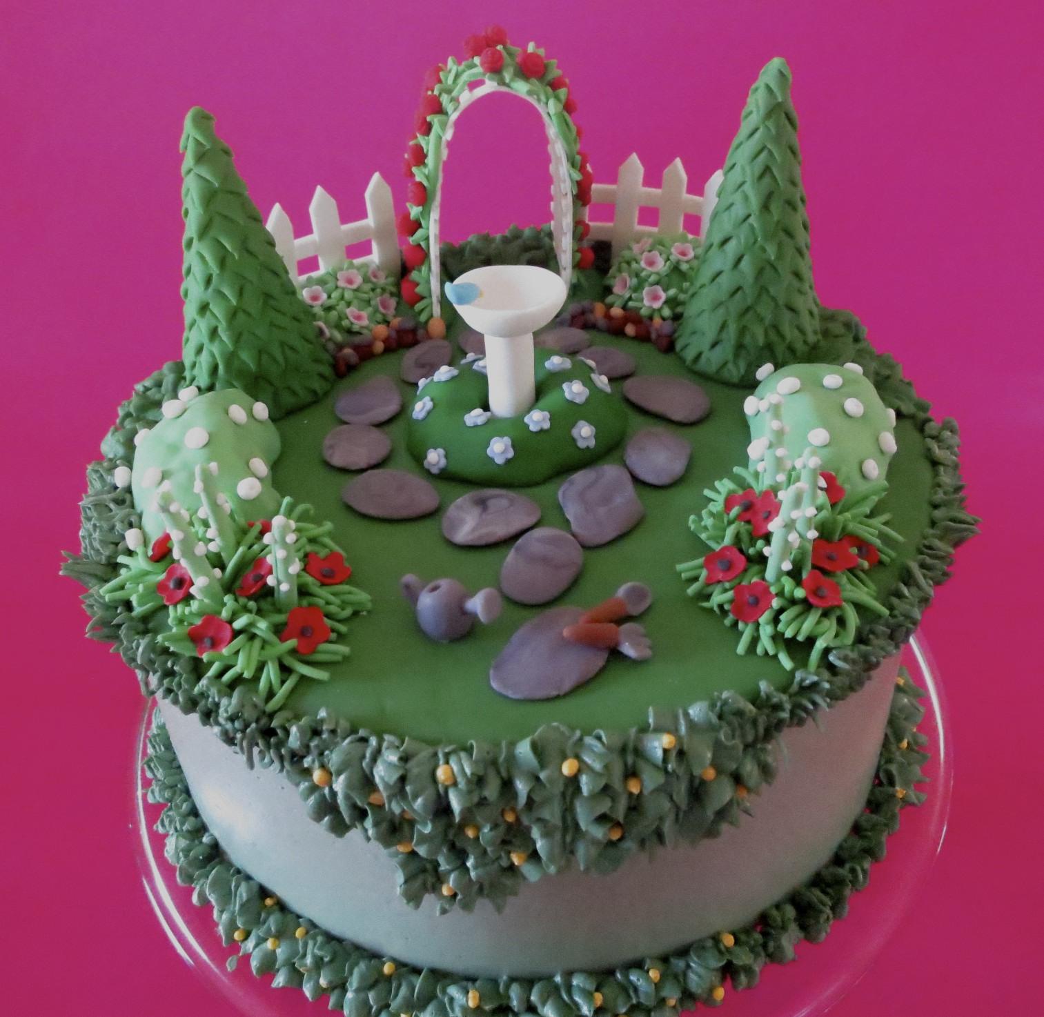 Fantastic 11 English Garden Birthday Cakes Photo Flower Garden Birthday Funny Birthday Cards Online Overcheapnameinfo