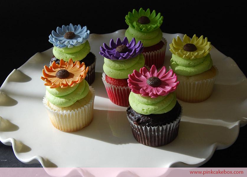5 Daisy Bridal Shower Cupcakes Photo - Darcy Miller Daisy Party ...
