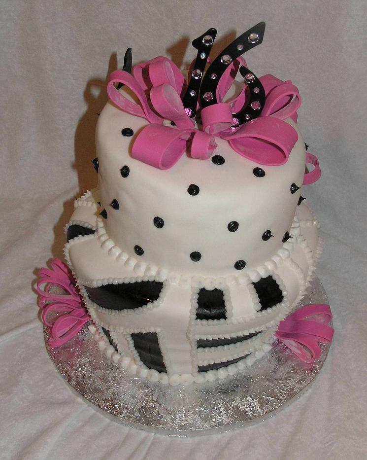 Enjoyable 8 Sweet 16Th Birthday Cakes For Girls Photo Girls Birthday Cake Personalised Birthday Cards Veneteletsinfo