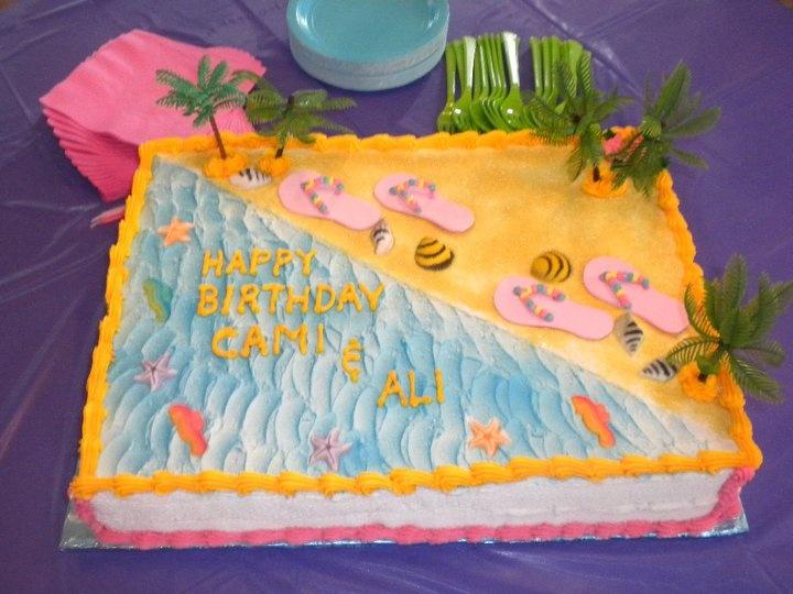 9 Retirement Cakes Half Sheet Photo Retirement Sheet Cakes Beach