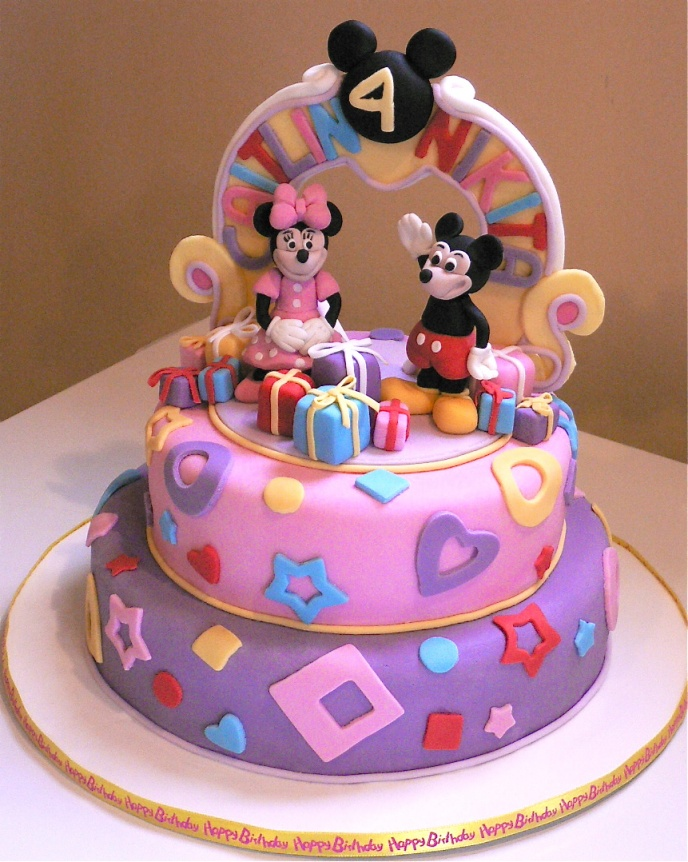 Enjoyable 11 Mickey And Mini Mouse Cakes Photo Mickey And Minnie Mouse Funny Birthday Cards Online Overcheapnameinfo