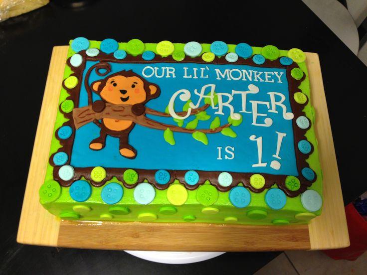 Tremendous 12 Monkey Boy Bday Cakes Photo Monkey Boy Birthday Cake Monkey Funny Birthday Cards Online Kookostrdamsfinfo
