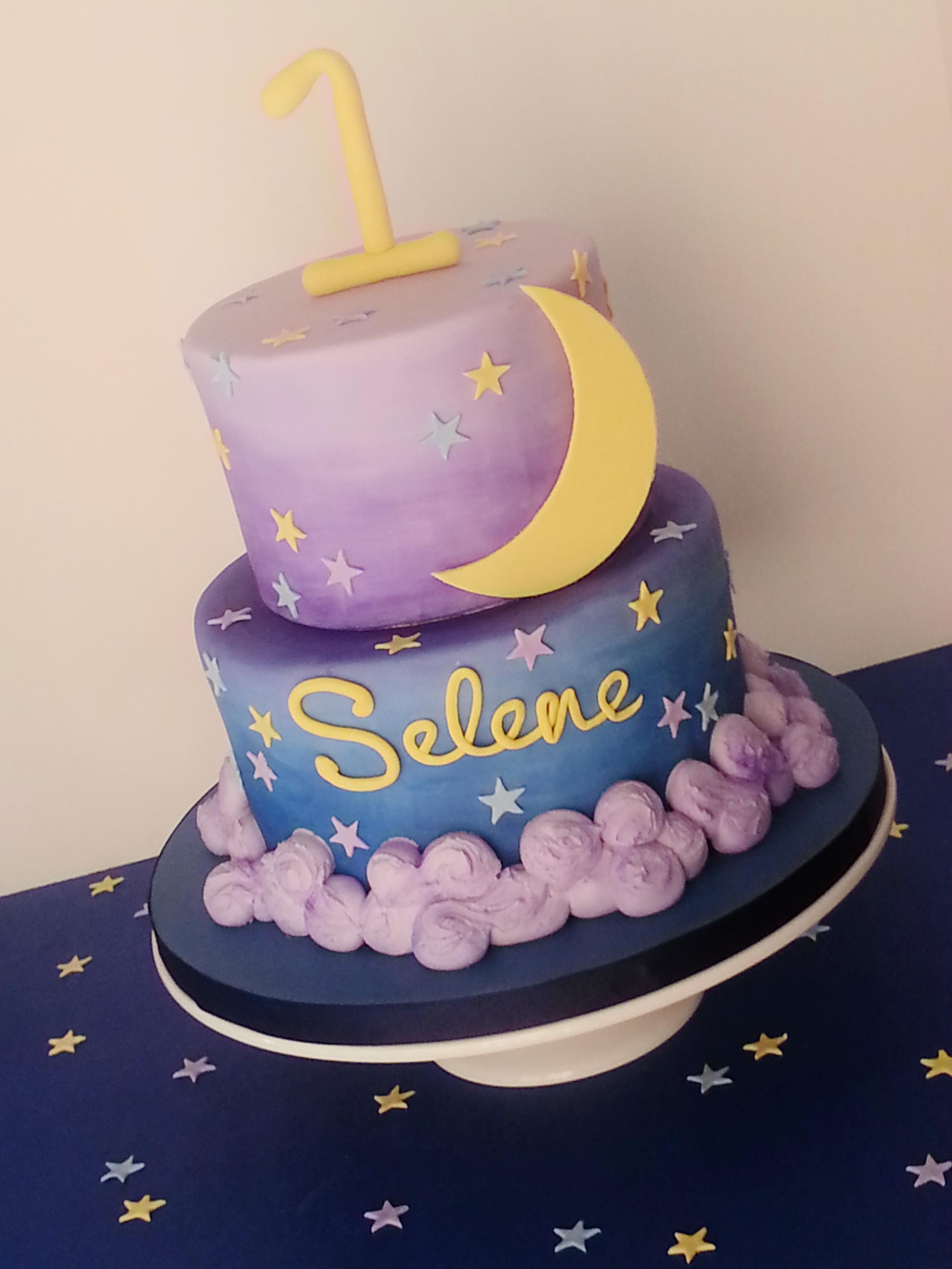 Wondrous 5 Moon And Stars Birthday Cakes Photo Moon And Stars Birthday Personalised Birthday Cards Cominlily Jamesorg
