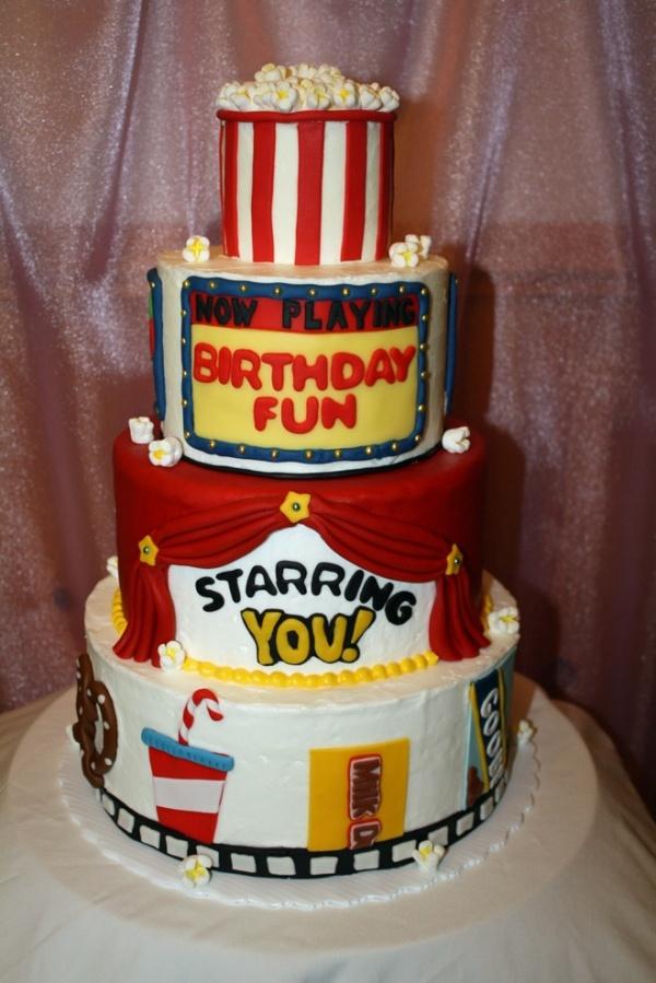 Incredible 9 Movie Ticket Themed Birthday Cakes Photo Movie Themed Cake Funny Birthday Cards Online Eattedamsfinfo