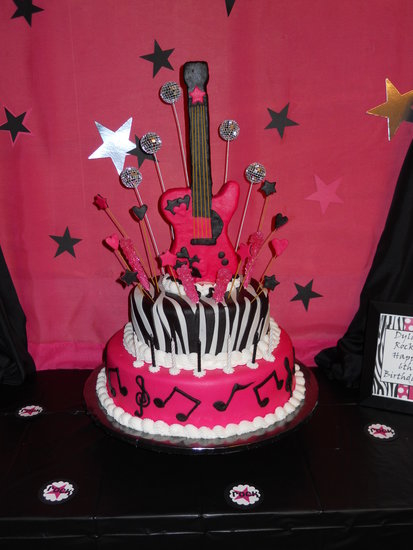 Stupendous 11 Rockstar Girls Party Cakes Photo Rock Star Birthday Cake Funny Birthday Cards Online Kookostrdamsfinfo