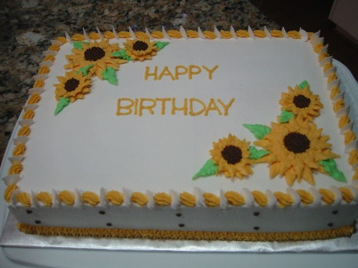 11 Sunflower Birthday Sheet Cakes Photo Sunflower Sheet Cake