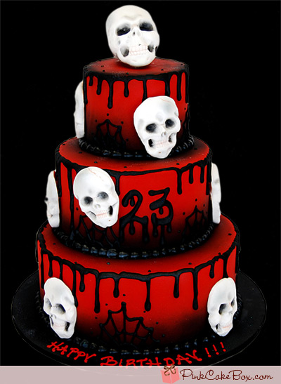 Terrific 12 Skull Cakes Halloween Birthday Photo Skull Birthday Cake Funny Birthday Cards Online Eattedamsfinfo
