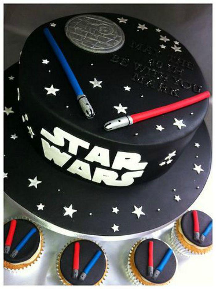 Marvelous 11 Easy Star Wars Cakes Photo Star Wars Cake Ideas Easy Star Funny Birthday Cards Online Alyptdamsfinfo