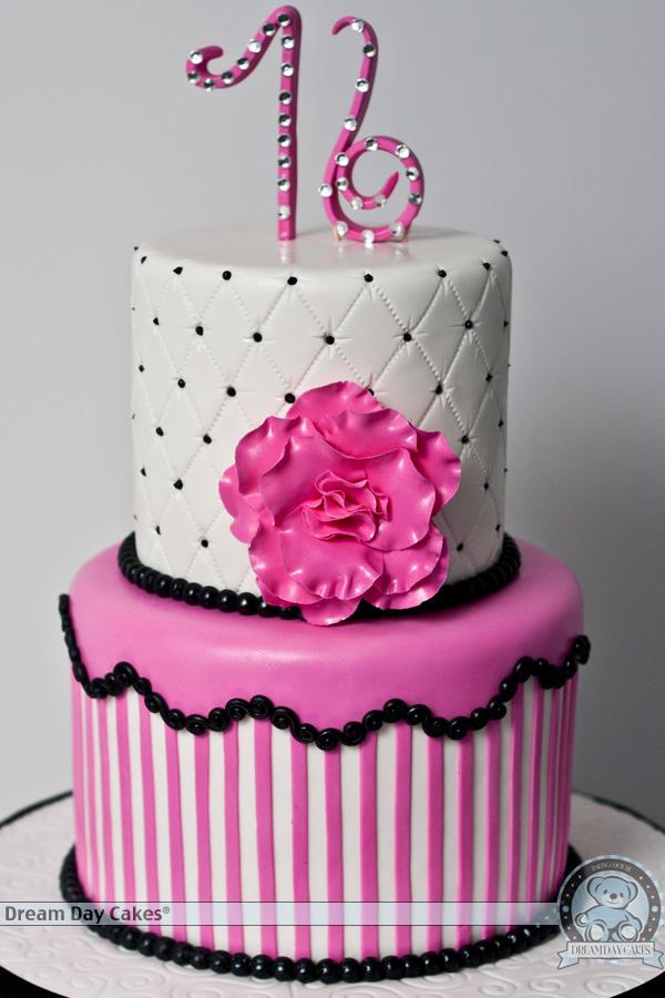 Tremendous 13 Pink Sweet 16 Sixteen Birthday Cakes Photo Sweet 16 Birthday Funny Birthday Cards Online Sheoxdamsfinfo