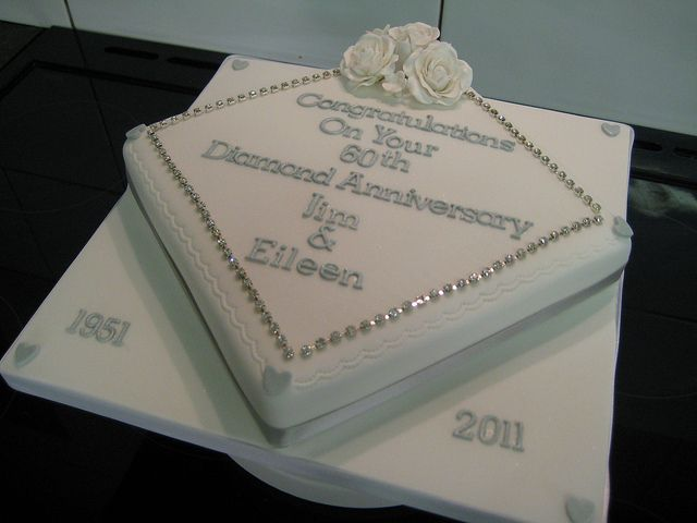 11 60th Wedding Anniversary Cakes Pictures Simple Photo 60th