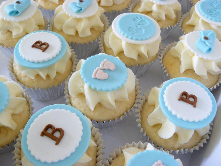 5 Baby Shower Cupcakes Houston Photo Baby Boy Shower Cupcake Cakes