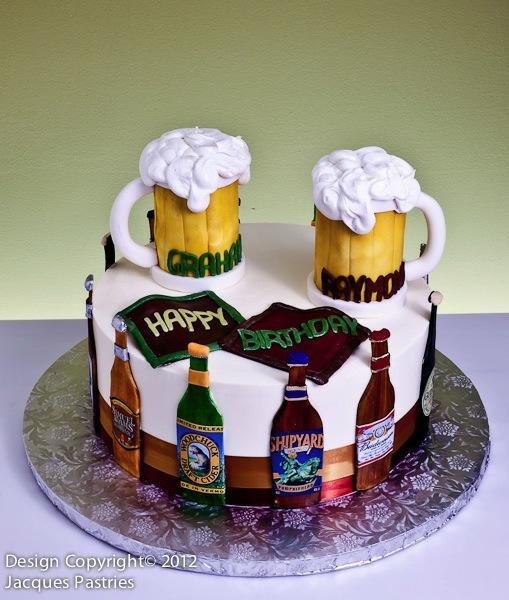 Magnificent 7 Beer Birthday Cakes Mark Photo Beer Birthday Cake Happy Funny Birthday Cards Online Elaedamsfinfo