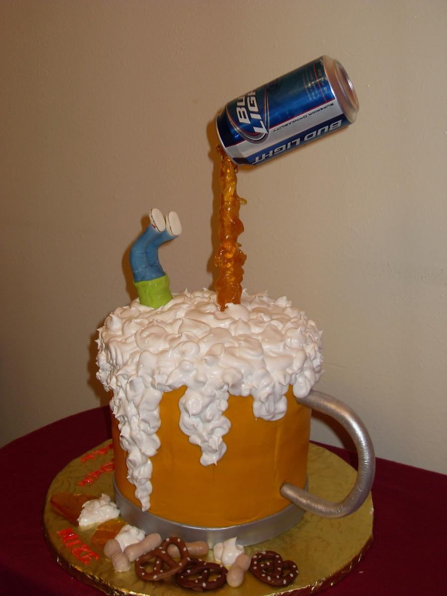 Sensational 7 Beer Birthday Cakes Mark Photo Beer Birthday Cake Happy Funny Birthday Cards Online Sheoxdamsfinfo