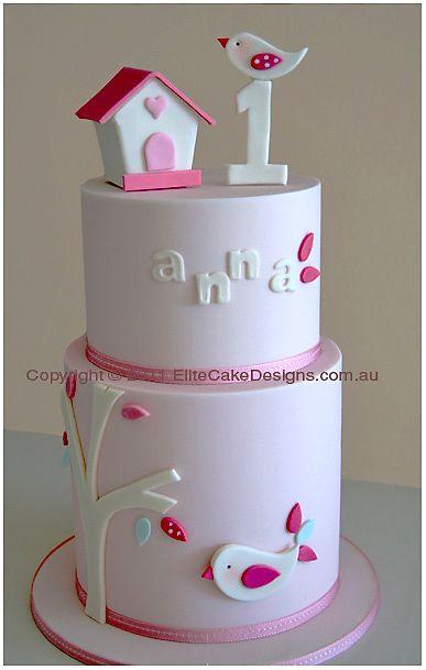Bird Theme Birthday Cake