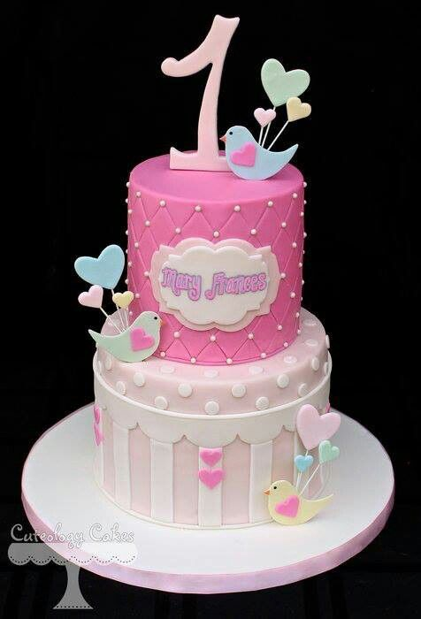 Bird Themed Birthday Cake