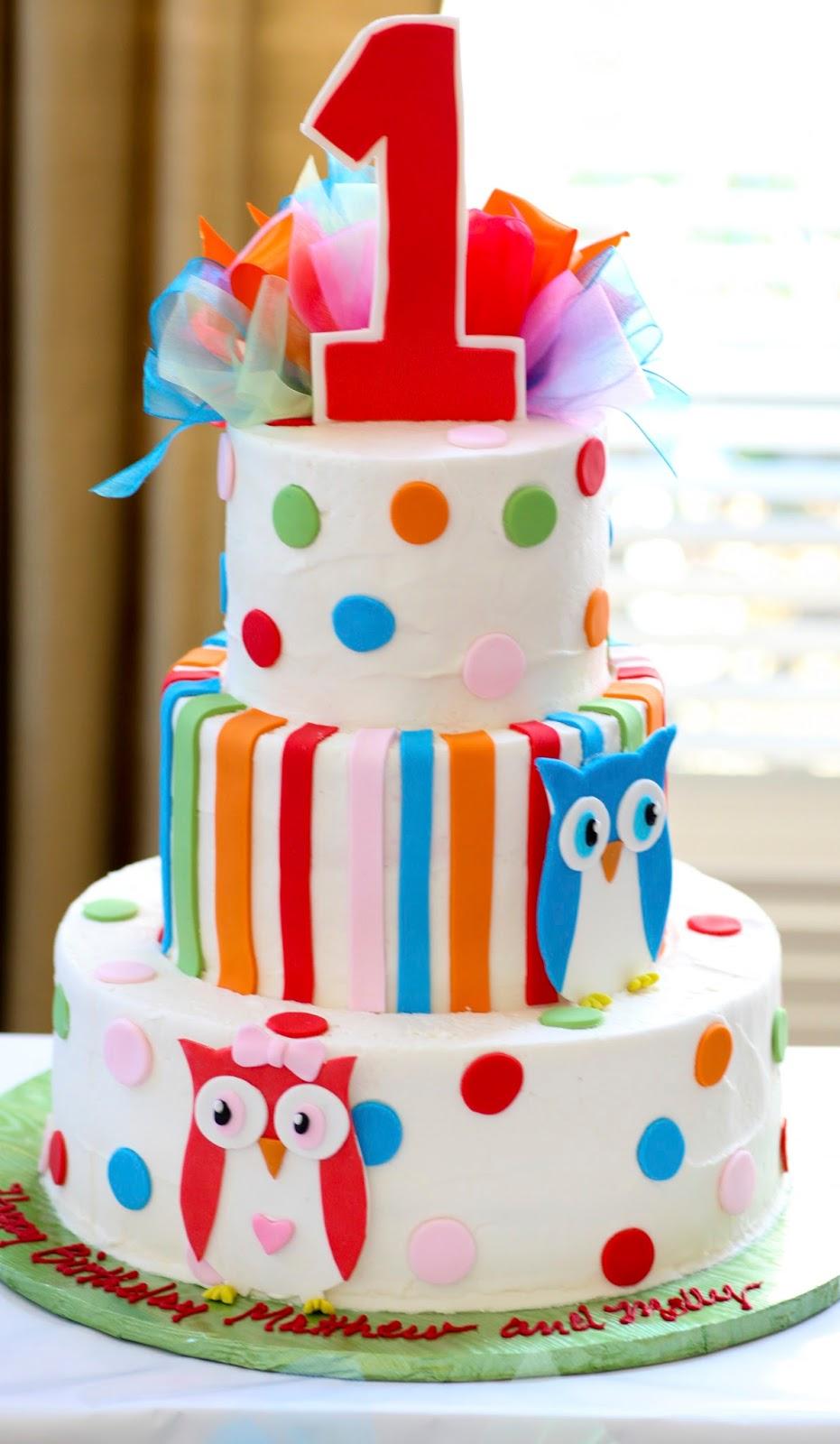 9 Twin Baby Girl Birthday Cakes Photo Twin 1st Birthday Cake Ideas